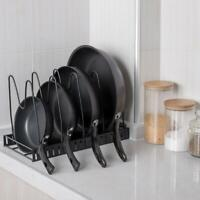 5 Layer Kitchen Cabinet Pan Rack Shelf Cookware Organizer Pot Lid Holder Storage