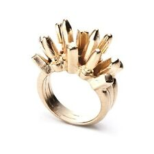 Dannijo Beatrix gold spike ring Statement Rings NWOT $245 Sz 5