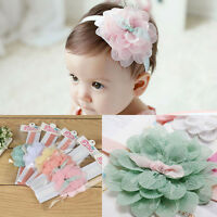 Lovely 1PC Kids Girl Baby Headband Toddler Lace Bow Flower Hair Band Accessory s