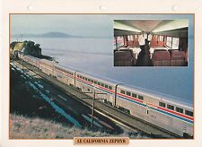 TRAINS DE LEGENDE -  CALIFORNIA ZEPHYR 1995 USA PHOTO / FEUILLE CLASSEUR