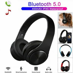 Bluetooth 5.0 Kopfhörer Faltbare Wireless HiFi-Stereo Bass Headset mit Mic