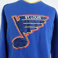 VTG ST LOUIS BLUES LOGO STARTER BRAND 90s NHL HOCKEY SWEATSHIRT SZ L LARGE