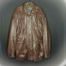 Marc New York Mens Large Butter Leather Jacket Brown Genuine Coat EUC