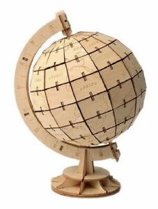 DIY 3D Wooden Puzzles Globe Puzzle Building Adults Kids Educational Toy 135 PCs