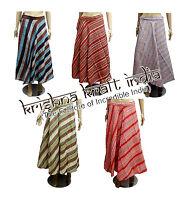 25pc Hippie Boho Striped Hobo Cotton Wrap Around Long Skirt Dress Wholesale Lot