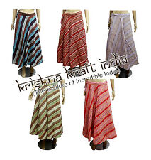 25pc Hippie Boho Striped Hobo Cotton Wrap Around Long Skirt Dress Wholesale Lot