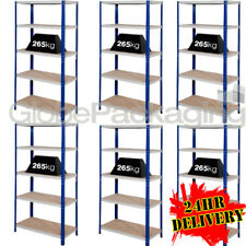 6 Bays of Super Heavy Duty & Wide Industrial Warehouse Shelving 1800x1200x600mm
