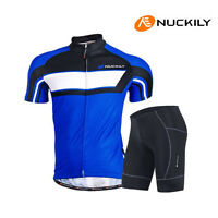 Men Cycling Bike Short Sleeve Jersey Shorts Set Bicycle Sportswear Clothing Suit