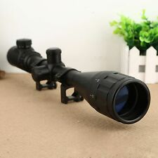 6-24x50 Red Green Mil-dot Sight Scope Illuminated Optics for 20mm Rail Rifle Gun