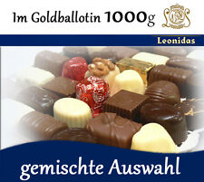 Belgische LEONIDAS Pralinen im Goldballotin, 1.000g (3,15€/100g)