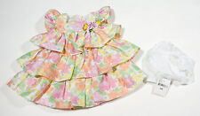 MARMELLATA NWT BABY GIRLS 9M RUFFLED DRESS PINK ORANGE FLORAL TIERED LAYERS NEW