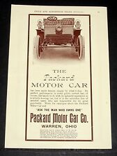 1903 OLD MAGAZINE PRINT AD, THE PACKARD MOTOR CAR, ASK THE MAN THAT OWNS ONE!