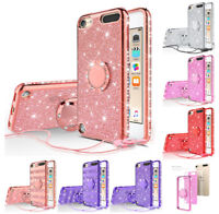 For iPod Touch 5th / 6th Generation - Ring Stand Glitter Bling Shockproof Case