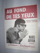 PARTITION MUSICALE BELGE MARC ARYAN AU FOND DE TES YEUX