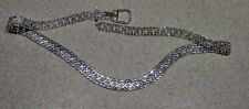 CRYSTAL RHINESTONE CHAIN SKINNY FASHION BELT Wedding Prom