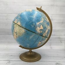 Vintage Crams Imperial World Globe Terrestrial Round Metal Base Ussr