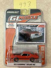 1972 orange Oldsmobile Cutlass 442 W-30 GreenLight GL Muscle 1/64 brand new MOC