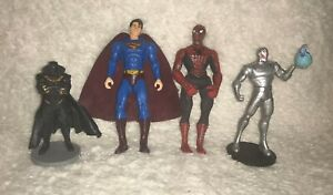 Superhero Figure Toy Lot Action Figures Superman Spiderman & others