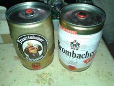 2 fusti fustini 5 L birra tedesca vuoti