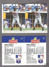1993 Humpty Dumpty Twins' Kirby Puckett Proof Uncut Pair, and Cello Pack Single