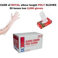 CASE of VINYL / POLY GLOVES  M / L / XL POWDER-FREE NOBLE/ SAFETY ZONE/ ROYAL