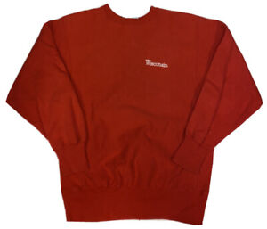 Vtg Champion University of Wisconsin Badgers Red Reverse Weave Sweater Sz XL USA