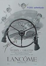 PUBLICITE LANCOME BEAUTE POUR L'AUTO NUTRIX GALATEIS CREME DE 1948 FRENCH AD PUB