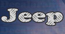 JEEP Chequer Plate Effect Car/Bumper/Window Novelty Printed Vinyl Sticker
