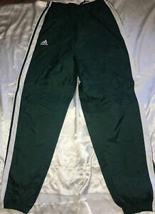 Adidas track pants size Large.Green Lined Nylon