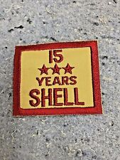 SHELL OIL GAS EMPLOYEE YEARS OF SERVICE PATCH NOS EMBLEM'S 15 Years Service