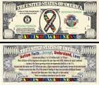 L'AUTISME - BILLET 1 MILLION DOLLAR US - Collection Santé Sensibilisation