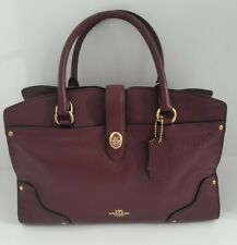 NWT COACH MERCER 30 SATCHEL SHOULDER BAG LEATHER BURGUNDY 37575  $ 395.00