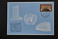 UN UNO Geneva BPE London 1979 special frank blue card 14/11/1979 blaue karte