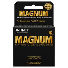 Trojan Magnum Large size condoms 3`S
