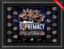 SYDNEY ROOSTERS 2018 NRL PREMIERS DUAL SIGNED FRAMED PREMIERSHIP LITHOGRAPH