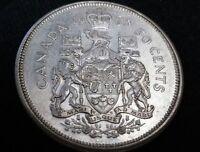 1963 Canada 50C Half Dollar Queen Elizabeth Silver