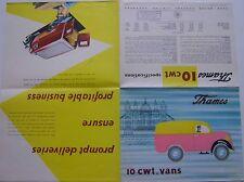 Ford Thames 10cwt 1956 Original UK Market Sales Brochure Van Estate & Pick-Up
