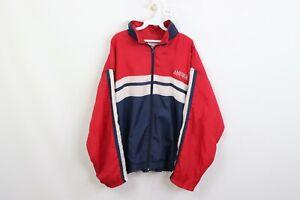 Vintage 90s Perry Ellis Mens XL Spell Out Color Block Windbreaker Jacket Nylon