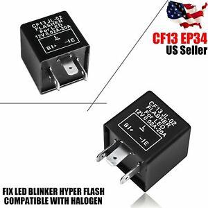 Turn Signal Hazard LED Flasher Relay CF13 3Pin No Fast Hyper-flash Blinker 3-pin