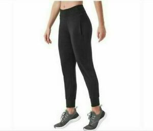 NEW Mondetta Women's Black Stretch Recycled Luxe Fabric Active Jogger Pants #118