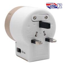 World Wide Universal Travel Adapter Multi Plug Charger 2 USB Port AU UK EU US CN