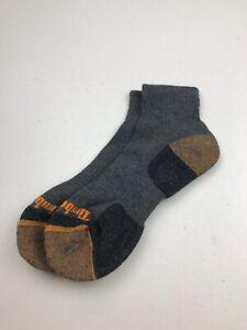 MENS SOCKS 1PR SPORTS 8-11 TIMBERLAND Ankle Hiking Travel Quality Grey Orange