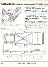 1940 Chrysler Model C26 NOS Frame Dimensions Align Spec