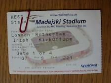 26/01/2003 Ticket: Rugby Union - At Reading - London Irish v Rotherham [Powergen