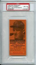 1958 San Francisco Danny O'Connell Call-Bulletin Giants PSA 8 Pop 3