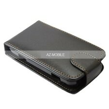 Wallet Case sony (LT28i) Xperia Ion Fine Flip Vertical Shell Slim Black Leather