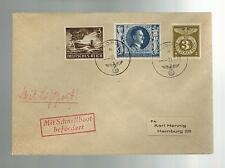 1943 Occupied Jersey airmail Feldpost Cover to Germany Boat Cancel