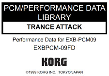KORG EXB-PCM09 TRANCE ATTACK Factory Preload Disk Triton EXB PCM-09FD