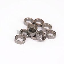 "(10)R168ZZ 1/4""x3/8""x1/8"" ABEC1 Thin-wall Deep Groove Ball Bearing"