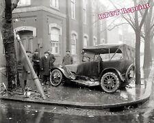 Photograph Vintage  Washington DC Car Wreck Year 1921   8x10